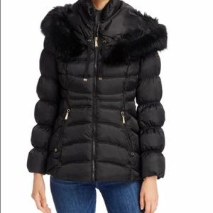 Laundry by Shelli Segal Faux Fur Trim Puffer